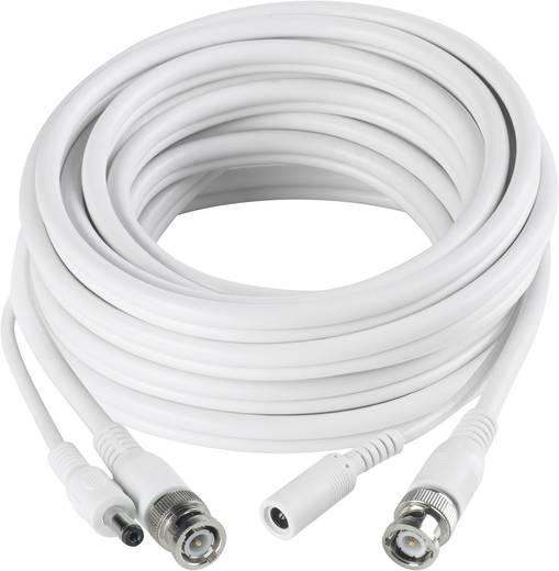 Strom, Video Verlängerungskabel [1x BNC-Stecker, DC-Buchse 5.5 mm - 1x BNC-Stecker, DC-Stecker 5.5 mm] 40 m Weiß Sygonix 43127X