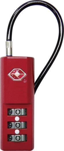 Kabelschloss 19 mm TSA TSA LKOT-0936RD Rot Zahlenschloss