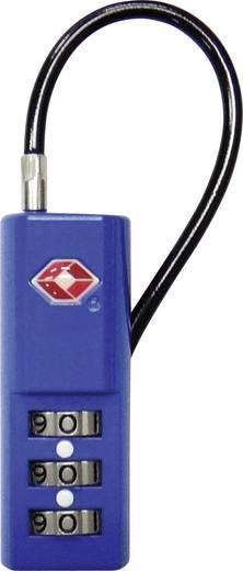 TSA Kabelschloss blau