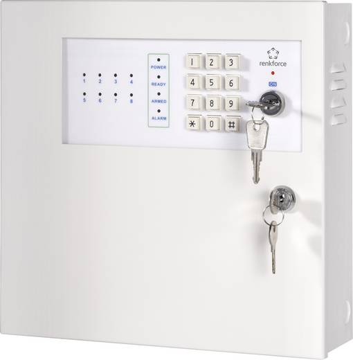 Alarmzentrale Renkforce MAC-608 754394 Alarmzonen 8x Drahtgebunden