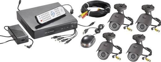 Überwachungs-Set 4-Kanal mit 4 Kameras 754541