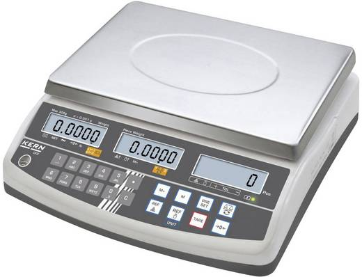 Zählwaage Kern Wägebereich (max.) 50 kg Ablesbarkeit 1 g netzbetrieben, akkubetrieben Silber