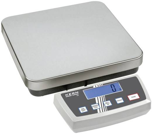 Plattformwaage Kern DE 15K0.2D Wägebereich (max.) 15 kg Ablesbarkeit 0.2 g, 0.5 g netzbetrieben, akkubetrieben, batteriebetrieben Silber