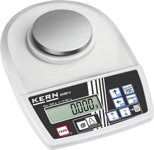 Briefwaage Kern EMB 200-3V Wägebereich (max.) 0.2 kg Ablesbarkeit 0.001 g netzbetrieben, batteriebetrieben Silber