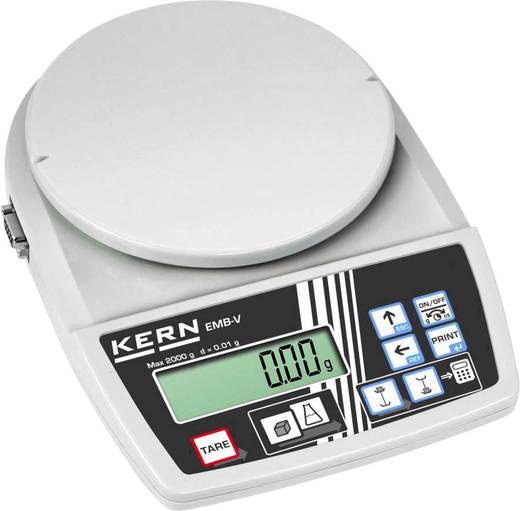 Briefwaage Kern EMB 2000-2V Wägebereich (max.) 2 kg Ablesbarkeit 0.01 g netzbetrieben, batteriebetrieben Weiß