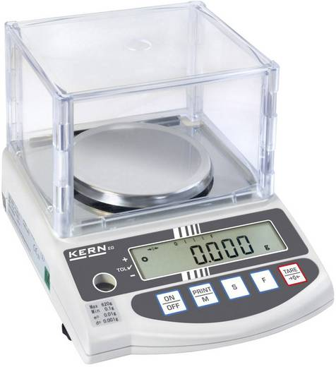Präzisionswaage Kern EW 220-3NM Wägebereich (max.) 220 g Ablesbarkeit 0.001 g netzbetrieben, akkubetrieben Silber