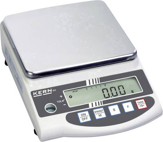 Präzisionswaage Kern EW 6200-2NM Wägebereich (max.) 6.2 kg Ablesbarkeit 0.01 g netzbetrieben, akkubetrieben Silber