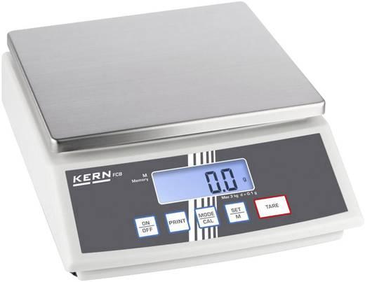 Tischwaage Kern FCB 8K0.1 Wägebereich (max.) 8 kg Ablesbarkeit 0.1 g netzbetrieben, batteriebetrieben, akkubetrieben Sil
