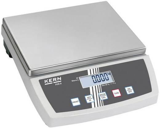 Tischwaage Kern FKB 30K1A Wägebereich (max.) 30 kg Ablesbarkeit 1 g netzbetrieben, batteriebetrieben, akkubetrieben Silber