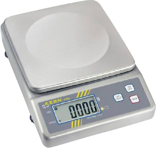 Briefwaage Kern FOB 6K2 Wägebereich (max.) 6 kg Ablesbarkeit 2 g netzbetrieben, batteriebetrieben, akkubetrieben Silber