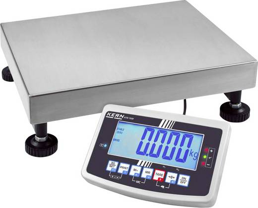 Plattformwaage Kern Wägebereich (max.) 60 kg Ablesbarkeit 10 g, 20 g netzbetrieben, akkubetrieben Silber