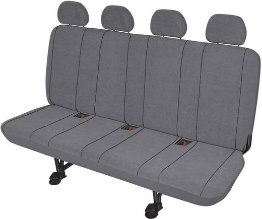 Sitzbezug 5teilig HP Autozubehör 22416 Housse pour banquette 4 places (camionnette) gris Polyester Grau Rücksitzbank (4e