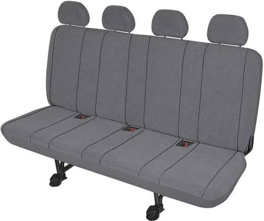 Sitzbezug 5teilig HP Autozubehör 22416 Sitzbezug Transporter 4er Grau Polyester Grau Rücksitzbank (4er)