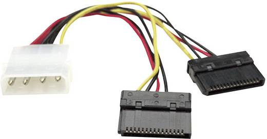Strom Anschlusskabel [2x SATA-Strom-Buchse 15pol. - 1x IDE-Strom-Stecker 4pol.] 0.15 m Schwarz, Rot, Gelb Manhattan