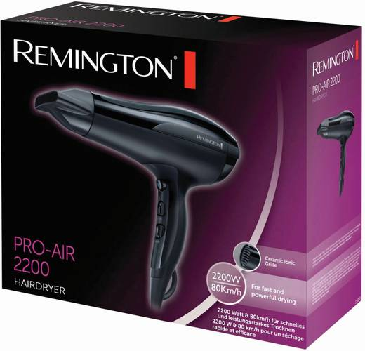 Haartrockner Remington Pro Air Ionen-Haartrockner Schwarz
