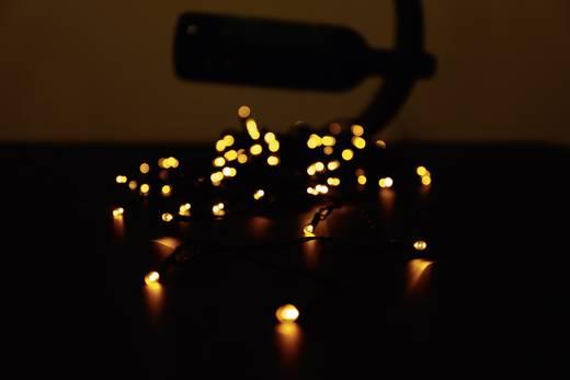 Micro-Lichterkette Außen netzbetrieben 80 LED Amber Beleuchtete Länge: 12.64 m Polarlite PLC-03-001