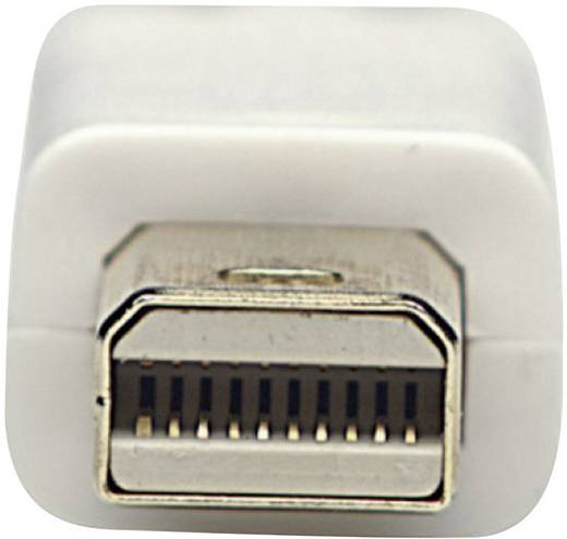 DisplayPort Anschlusskabel [1x Mini-DisplayPort Stecker - 1x DisplayPort Stecker] 3 m Weiß Manhattan
