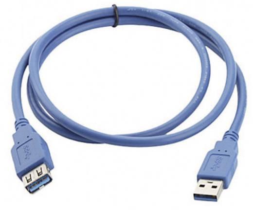 USB 3.0 Verlängerungskabel [1x USB 3.0 Stecker A - 1x USB 3.0 Buchse A] 2 m Blau vergoldete Steckkontakte, UL-zertifiziert Manhattan