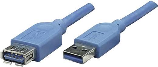 USB 3.0 Verlängerungskabel [1x USB 3.0 Stecker A - 1x USB 3.0 Buchse A] 2 m Blau vergoldete Steckkontakte, UL-zertifizie