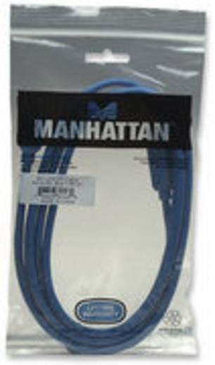 USB 3.0 Anschlusskabel [1x USB 3.0 Stecker A - 1x USB 3.0 Stecker B] 2 m Blau vergoldete Steckkontakte, UL-zertifiziert Manhattan
