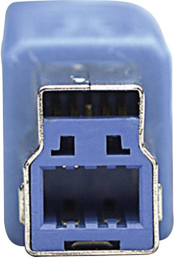 USB 3.0 Anschlusskabel [1x USB 3.0 Stecker A - 1x USB 3.0 Stecker B] 3 m Blau vergoldete Steckkontakte, UL-zertifiziert
