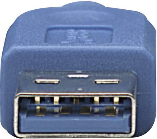 USB 3.0 Anschlusskabel [1x USB 3.0 Stecker A - 1x USB 3.0 Stecker Micro B] 1 m Blau vergoldete Steckkontakte, UL-zertifiziert Manhattan