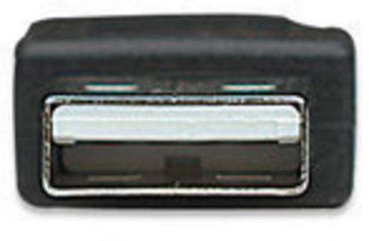 USB 2.0 Anschlusskabel [1x USB 2.0 Stecker A - 1x USB 2.0 Stecker B] 3 m Schwarz vergoldete Steckkontakte, UL-zertifiziert Manhattan