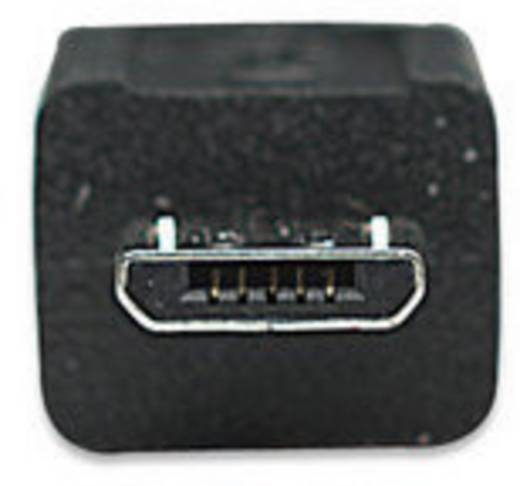 USB 2.0 Anschlusskabel [1x USB 2.0 Stecker A - 1x USB 2.0 Stecker Micro-B] 0.50 m Schwarz vergoldete Steckkontakte, UL-z