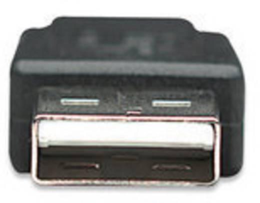 USB 2.0 Anschlusskabel [1x USB 2.0 Stecker A - 1x USB 2.0 Stecker Micro-B] 1.8 m Schwarz UL-zertifiziert Manhattan