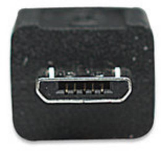USB 2.0 Anschlusskabel [1x USB 2.0 Stecker A - 1x USB 2.0 Stecker Micro-B] 1.80 m Schwarz vergoldete Steckkontakte, UL-zertifiziert Manhattan