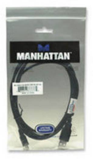 USB 2.0 Anschlusskabel [1x USB 2.0 Stecker A - 1x USB 2.0 Stecker Mini-B] 1.8 m Schwarz vergoldete Steckkontakte, UL-zer