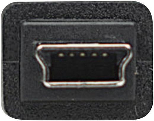 USB 2.0 Anschlusskabel [1x USB 2.0 Stecker A - 1x USB 2.0 Stecker Mini-B] 1.80 m Schwarz vergoldete Steckkontakte, UL-ze