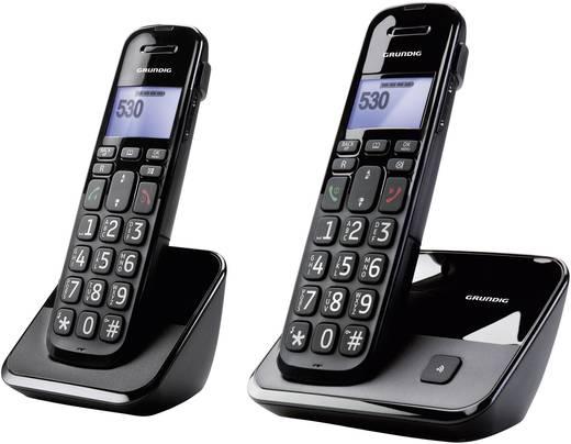 Schnurloses Seniorentelefon Grundig D530 Duo Optische Anrufsignalisierung Beleuchtetes Display Schwarz