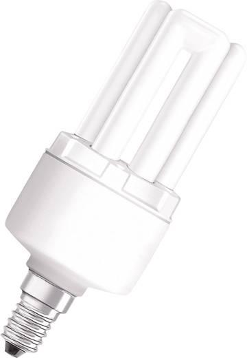 Energiesparlampe 115.0 mm OSRAM 230 V E14 8 W = 40 W Warm-Weiß EEK: A Stabform Inhalt 1 St.