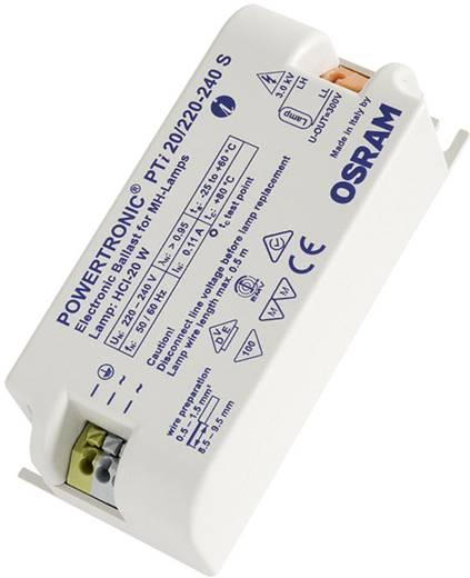 OSRAM Hochdruckentladungslampe EVG 20 W (1 x 20 W) für Leuchteneinbau, Metallgehäuse