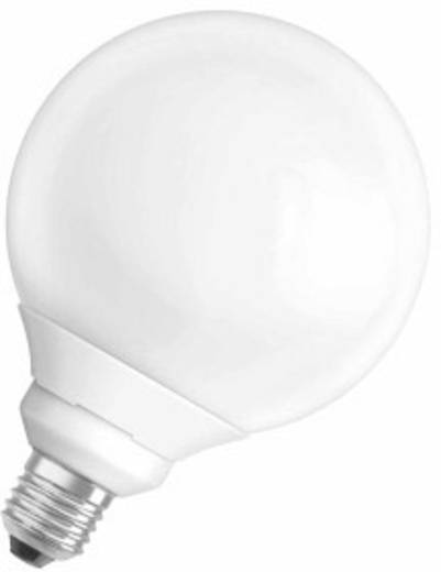 Energiesparlampe 158 mm OSRAM 230 V E27 15 W = 60 W Warm-Weiß EEK: A Globeform Inhalt 1 St.