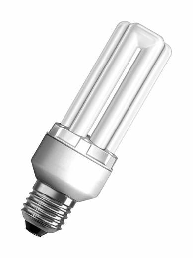 Energiesparlampe 137 mm OSRAM 230 V E27 18 W = 80 W Warmweiß EEK: A Stabform 1 St.
