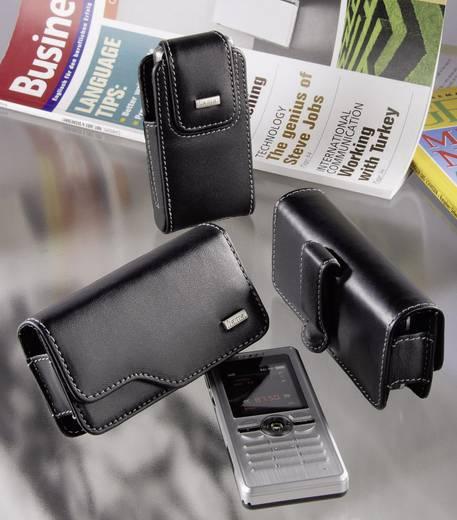 Hama Mobiltelefon-Tasche Life Größe 1 - Echtleder Handytasche mit Gürtelclip und Magnetverschluss
