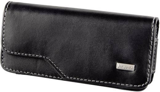 Hama Backcover Life Größe 2 - Echtleder Handytasche mit Gürtelclip und Magnetverschluss 115 mm 48 mm 16 mm , Schwarz