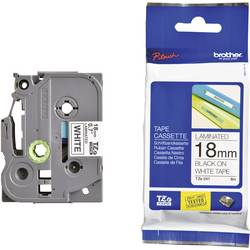 Páska do štítkovače Brother TZ-241, 18 mm, TZe, TZ, 8 m, černá/bílá