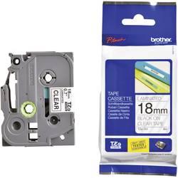 Páska do štítkovače Brother TZ-141, 18 mm, TZe, TZ, 8 m, černá/transp.