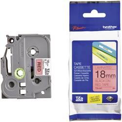 Páska do štítkovače Brother TZ-411, 18 mm, TZe, TZ, 8 m, černá/červená