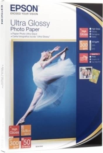 Fotopapier Epson Ultra Glossy Photo Paper C13S041943 10 x 15 cm 300 g/m² 50 Blatt Hochglänzend