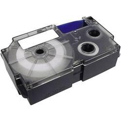 Páska do štítkovača Casio XR-12RD1, 12 mm, 8 m, čierna, červená