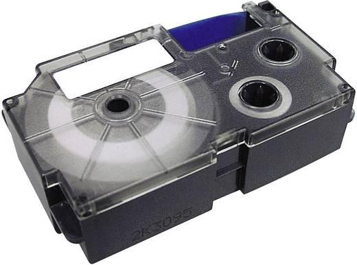 Schriftband Casio XR IR-18 WE Bandfarbe: Weiß Schriftfarbe:Schwarz 18 mm 8 m
