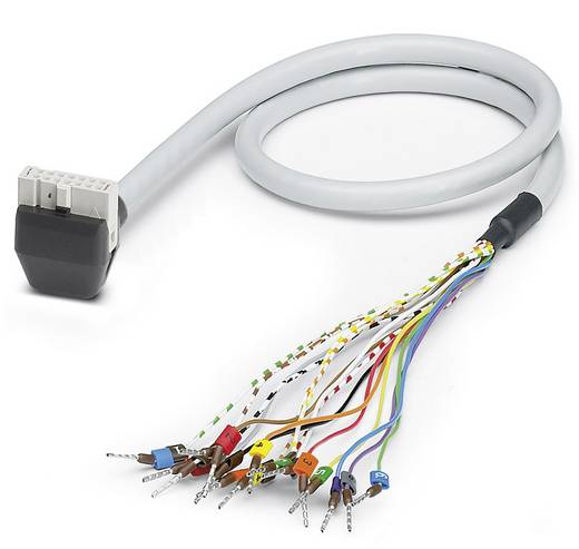 Sensor-/Aktor-Steckverbinder, konfektioniert Federleiste abgewinkelt 2 m Polzahl (RJ): 20 Phoenix Contact 2900145 VIP-C