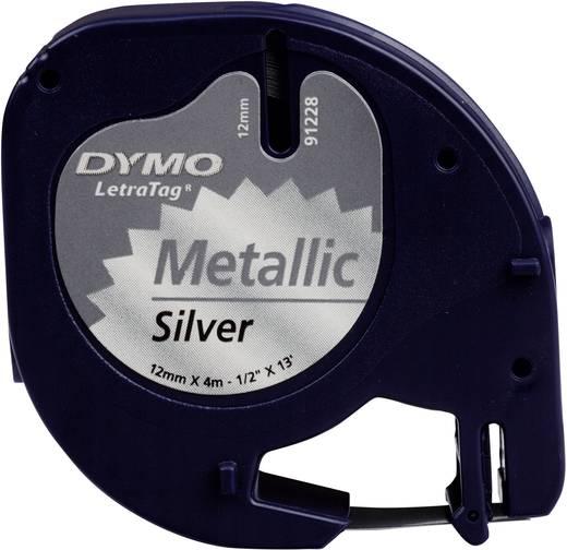 Etiketten-Band DYMO 91228 Bandfarbe: Silber (metallic) Schriftfarbe:Schwarz 12 mm 4 m