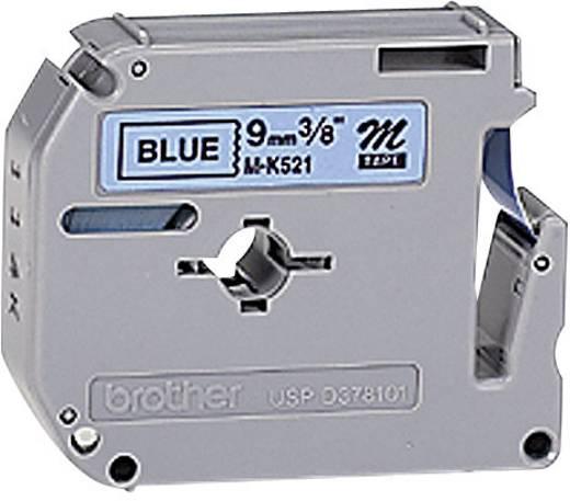 Schriftband Brother M M-K521 Bandfarbe: Blau Schriftfarbe:Schwarz 9 mm 8 m