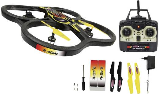 Jamara Quadro-Helikopter Invader Quadrocopter RtF 2.4GHz