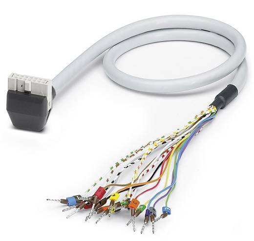 Sensor-/Aktor-Steckverbinder, konfektioniert Federleiste abgewinkelt 2 m Polzahl (RJ): 14 Phoenix Contact 2900126 VIP-C
